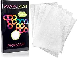 Framar Maniac Mesh Sheets - Mesh Strips for Hair Dye, Hair Color, Hair Bleach - 50 Pack (Reusable)