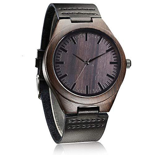 Relojes de Madera Personalizado, Moda Casual Clásico Hecho a Mano de Madera Reloje Regalo