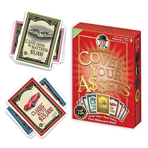 Steadyuf Kartenspiel, Cover Your Assets Grandpa Beck, Unterhaltsame Kartenspiel für Jung und Alt spaßige und amüsante Spieleabende im Freundes - und Familienkreis