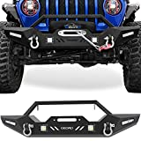 OEDRO Front Bumper Compatible with 2018-2021 Jeep Wrangler JL &...