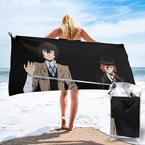 RTRTRT Chuuya Osamu Bungo Stray Dogs - Toalla de playa de microfibra de secado rápido de 28 x 55 pulgadas, toalla súper absorbente, toalla sin arena, para niños, adolescentes, adultos, viajes, gimnasi