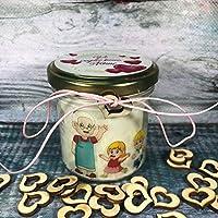 Regalo per i Nonni - Candela in cera di soia e oli essenziali personalizzata con dedica – Festa dei Nonni – Vi voglio...