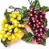 LIDORE 100 LED Purple&Green Grape String Lights. Grapevine Lights with 10 Cluster-UL Listed