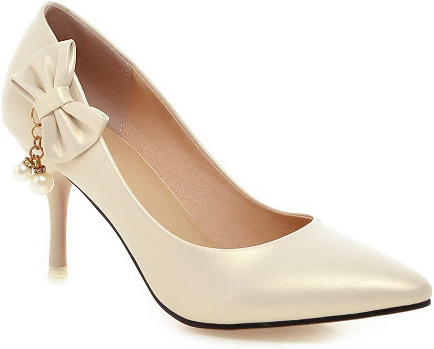1TO9 Womens Metal Ornament Bowknot Mule Polyurethane Pumps-shoes