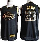 Camiseta de Baloncesto para Hombre NBA Los Angeles Lakers 23# Anthony Davis Cómoda/Ligero/Transpirable Malla Bordada Swing Swing Sworing Sweatshirt,M