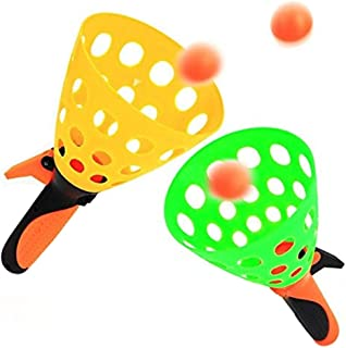 Perpetual Bliss Catch Ball Launcher Toy Game Pop & Catch Play Fun for Kids Birthday Return Gifts Set of 2