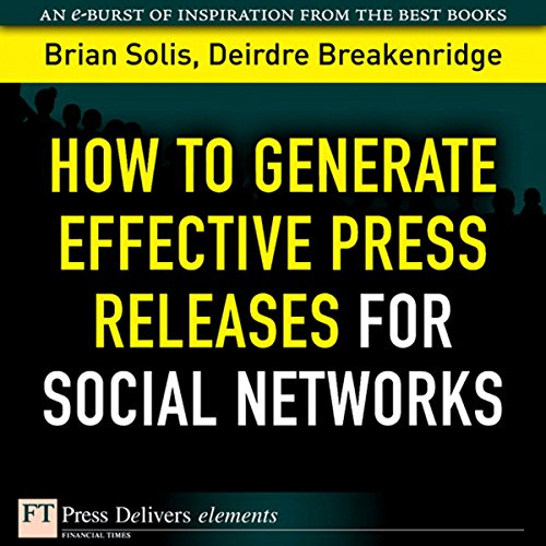 How to Generate Effective Press Releases for Social Networks audiobook cover art