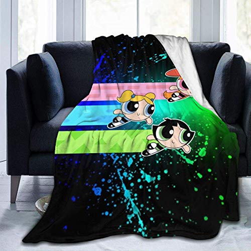 Aerlan Die Powerpuff Girls Ultraweiche Micro Fleece Decke mit Throw Print Mikrofaser Plüsch Decke für Couch Schlafsofa(50x40inch)