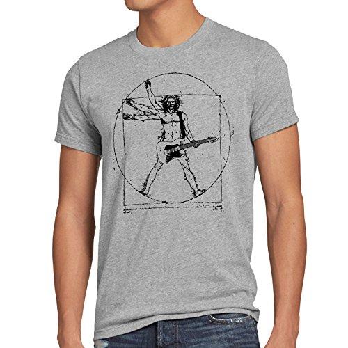 style3 Da Vinci Rock Herren T-Shirt Musik Festival, Größe:XL, Farbe:Grau meliert
