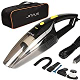 JINPUS Car Vacuum, High Power DC 12V 5000PA Stronger Suction Car Vacuum Cleaner, Wet/Dry Portable Handheld Car Vacuum Cleaner with 16.4Ft Power Cord (Transparent)