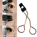 Metyere Magnetic Lash Applicator Magnetic Lashes Clip,Professioner Lash Curler Handle Makeup Curling Tools Fits All Eye Shapes Get The Perfect Curl Eyelashes Tweezer Cosmetic