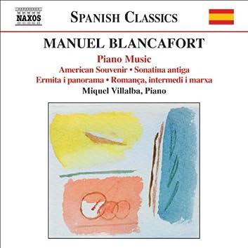 BLANCAFORT: Piano Music (Complete), Vol. 4