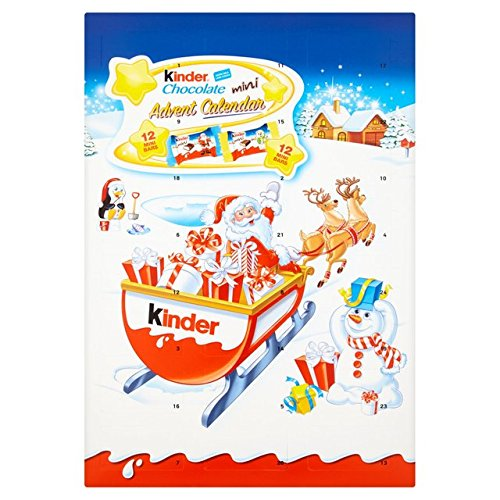 Calendrier De Lavent Kinder 343 G.Kinder Chocolate Advent Calendar 135g