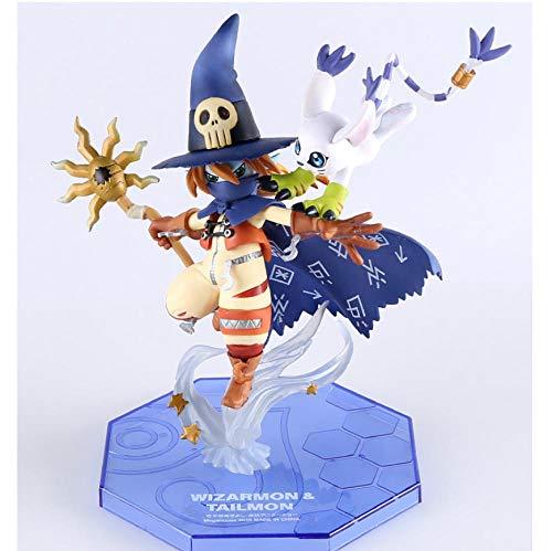VENDISART Figura de Anime Wizardmon/Wizarmon E Tailmon/Gatomon - Digimon Adventure Digital Monster Toy PVC Figura de acción Modelo muñeca
