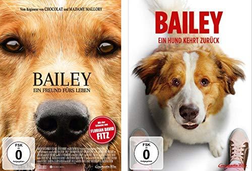 Bailey 1+2 (Ein Freund fürs Leben / Ein Hund kehrt zurück) im Set - Deutsche Originalware [2 DVDs]