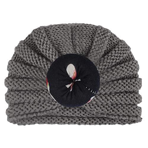 RoMantic sports Casquette bébé Bonnet de bébé Hairball Girl's Cute Hat Knit Beanie Warm Turban Hat Hedging Cap Christmas Flower Decoration