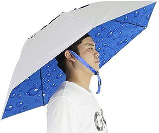Fishing Umbrella Hat Folding Sun Rain Cap Adjustable Multifunction Outdoor Headwear
