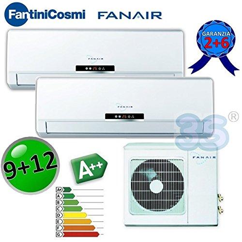 Klimaanlage Dual Split 9000+ 12000DC Inverter Klasse A + +/A + fanair–Fantini Cosmi