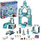 LEGO 43194 Disney Princess Frozen: Paraíso Invernal de Anna y Elsa, Castillo de Hielo de Juguete para Construir con Muñecas