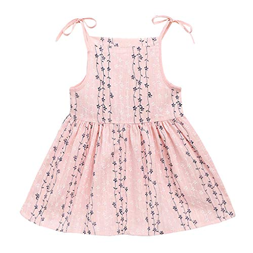 YUAN YUAN Kleide Mode Kinder Kleinkind-Kind-Baby-Feste Blume gestreifte Prinzessin Party Dress Blume Sundress Clothes Freizeitkleid Spitzenkleid Minikleid Sommerkleid