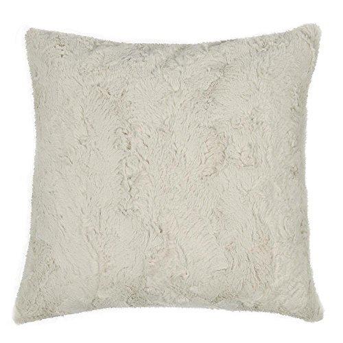 Unbekannt Pad - Kissenhülle, Kissenbezug, Kissen - Bardot - Kunstpelz, Kunstfell - Farbe: Natural, Weiß - Polyester - 50x50 cm - ohen Füllung