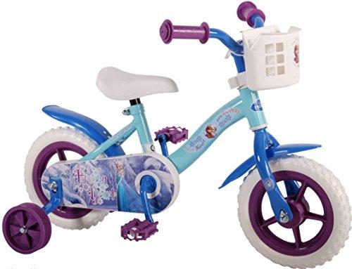 10 Zoll Mädchenfahrrad Kinderfahrrad Fahrrad Frozen Disney Eiskönigin Bike Rad VOLARE