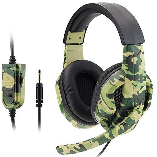 YWQQDP Auricular con Cable, Auriculares para Juegos Bluetooth, cómodo y Transpirable Efecto estéreo, Conveniente para los teléfonos Inteligentes, tabletas, Ordenadores portátiles