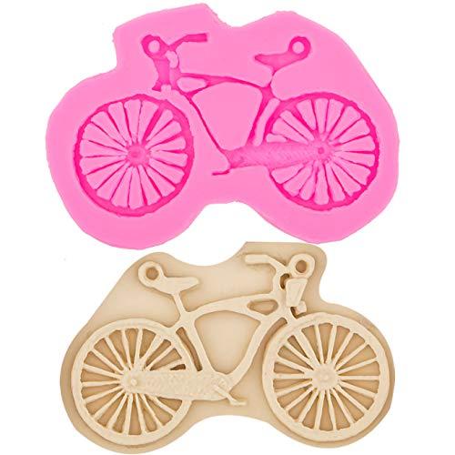 Strumenti per Decorare Torte Forma di Bicicletta Stampo per Fondente in Silicone 3D Stampo per Torta Cupcake Design Stampo per Cioccolato Bake Ware
