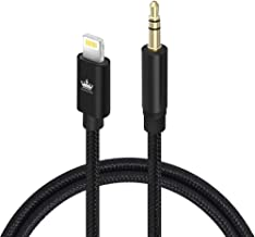 Aux Cable for car, Kingone Aux Cord Compatible with iPhone X/7/8/Xs/Xr/iPad/iPod【Nylon Braided】 3.3ft for Car & Home Stereo &Headphone