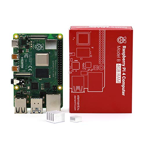LoveRPi Raspberry Pi 4 4GB Computer with Heatsinks