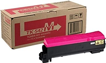 Kyocera 1T02HLBUS0 Model TK-542M Magenta Toner Cartridge For use with Kyocera FS-C5100DN Color Network Laser Printer, Up to 4000 Pages Yield at 5% Average Coverage
