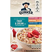 Quaker Fruit & Cream クエーカーフルーツ&クリームインスタントオートミールバラエティ30gx8(240g) [並行輸入品]