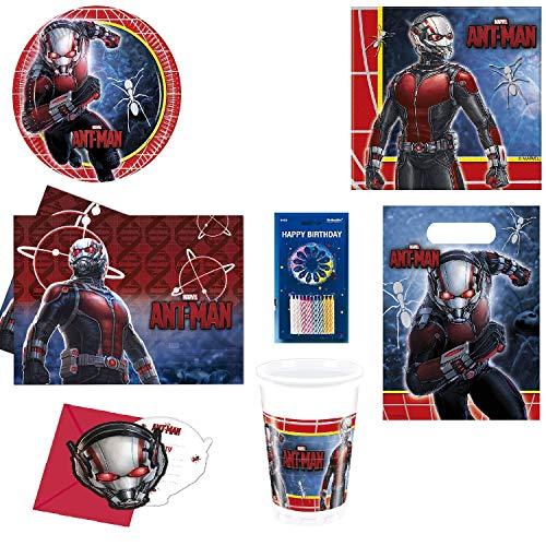 Mgs33 Super Pack 73 pièces Anti Man , Kit de Fête pour 6/8 Enfants , Marvel, Super héros