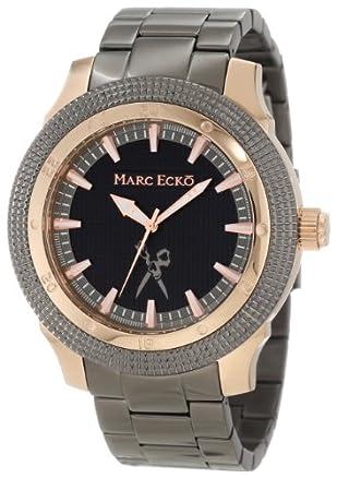 Marc Ecko Mens Black Genuine Leather Belt Size 36 w// Raised Center