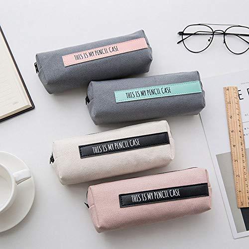 QFERW Étui à cosmétiques 1 Simple Petit Sac à cosmétiques Sac à cosmétiques Sac à Main Nouveau Sac de Rangement à Rayures de Voyage, Gris Bleu