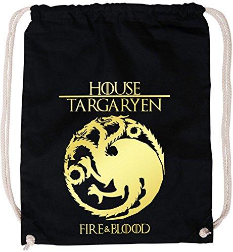 EZYshirt®| Game of thrones | House Targaryen | GOT | Baumwoll Stoffbeutel