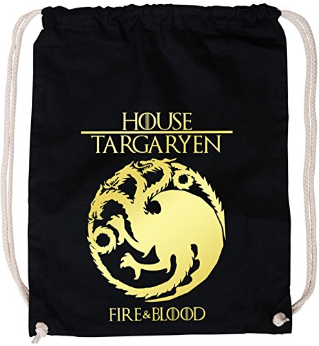 EZYshirt®| Game of thrones | House Targaryen | GOT | Baumwoll Stoffbeutel