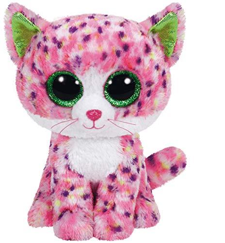 Carletto Ty 36189 Sophie Cat Ty 36189-Sophie-Katze, mit Glitzeraugen, Beanie Boo's, 15 cm, Pink, Rosa