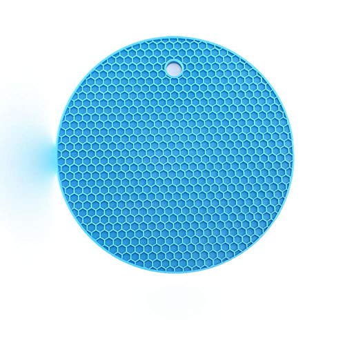 JIAYAN Multi-Color Silicone Mat Round Heat Resistant Mat Coasters Non-Slip Pot Holder Durable Table Placemat Kitchen Accessories Tool
