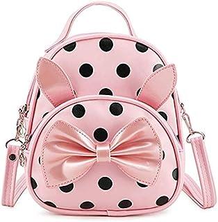 Bizarre Vogue Polka Dots Mini Latest Women's Backpack for Girls (4L_BabyPink_PU_Biz-697)