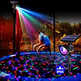 Waterproof Trampoline Lights - Trampoline LED Lights Solar Powered with Auto On/Off for...