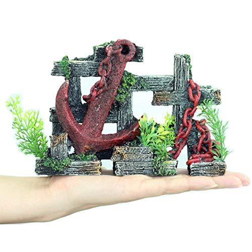 MJSHA Adornos de Ancla de paisajismo de Acuario creativos con Plantas acuáticas simuladas, Manualidades de decoración de peceras, no dañarán a los Peces