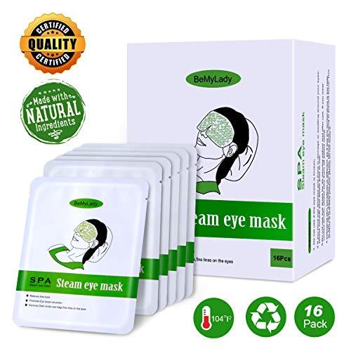 LC-dolida 蒸気でホットアイマスク 16枚入 ホットアイマスク 安眠 睡眠 目元 ストレス解消 疲労回復 使い捨てドライアイ用マスク
