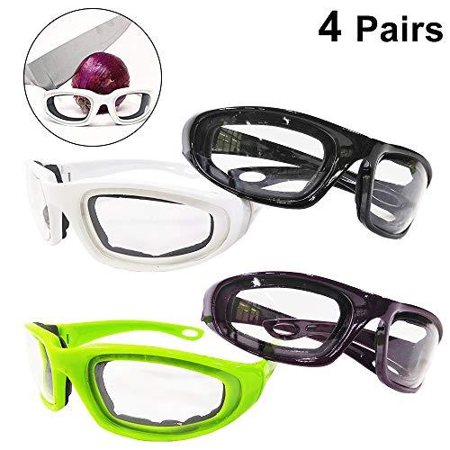 NA 4 Pares Cebolla Goggles Gafas Rebanar Cocina Corte Picar