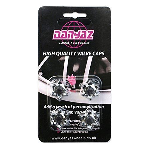Global Accessorie élégant Silver Crown Valve Caps