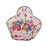 WayOuter Tente de Jeu, Piscine pour Enfants Playpen Bébé Baby Ball Pit Pool Pop Up Cubby House Pliable balles Maison de Jeu en Plein