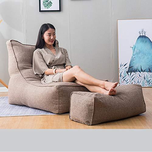YAzNdom Sofa, gevulde zitzak en opslag voor kinderen en peuters, voor jongeren en volwassenen, vijf kleuren, modern hout Eén maat bruin