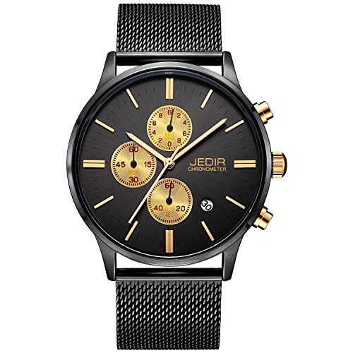 Orologio cronografo da uomo JEDIR Orologio al quarzo analogico Design...
