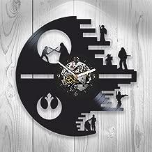 Star Wars Clock ,Star Wars Gift For Boy, Xmas Gift For Man, Star Wars Clock, Star Wars Birthday Gift For Boy, Darth Vader, Vintage Vinyl Record, Star Wars Gift, Wall Clock Large