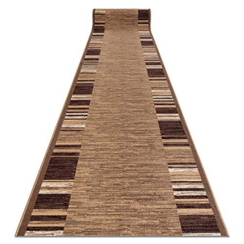 Passatoia Corridoio, Adagio, beige, antiscivolo, per cucina, corridoio, soggiorno, robusto, moderno, 133x190 cm